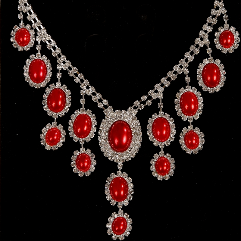 肚皮舞頸飾 高檔項鏈 印度舞項鏈 舞臺表演飾品 水鉆珍珠項鏈