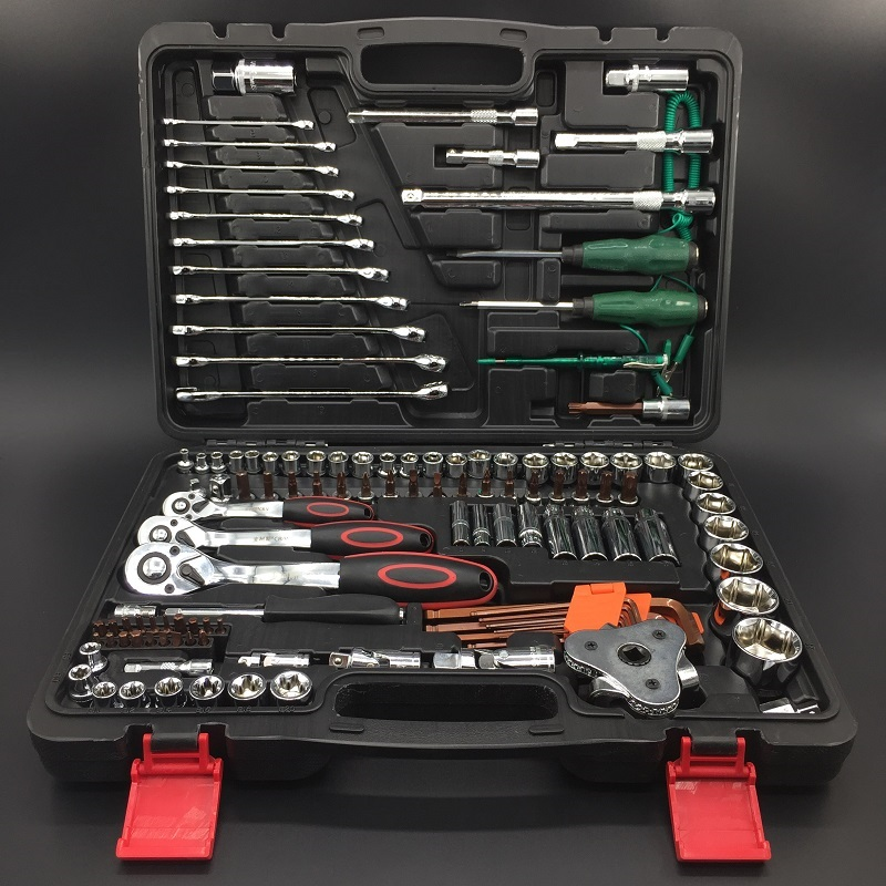 Hardware toolbox, multi function auto repair tool, household tools combination set, electrician maintenance vehicle kit