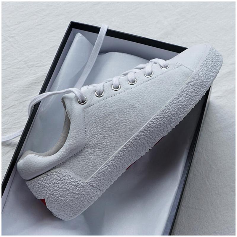 Los amantes del Joker de zapatos de calle blanco Zapatos Gucci solo los zapatos de suela gruesa de estrella de cinco puntas, zapatos de cuero blanco