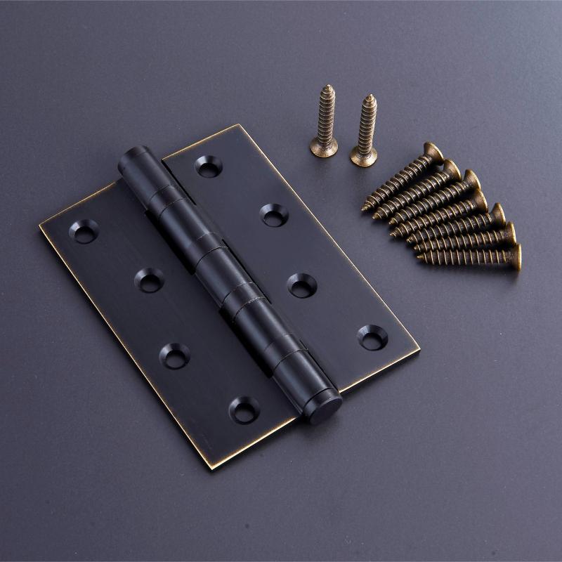 Stainless steel copper bearing mute 4 inch 5 inch thick wooden doors indoor real Siemens flat open door hinge hinge base