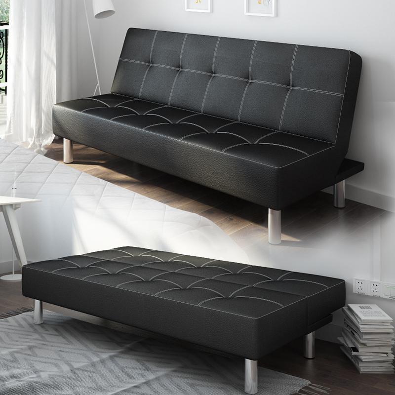 Τον καναπέ - κρεβάτι πτυσσόμενη καρέκλα στο σαλόνι της συμπαγούς ξυλείας 52 μέτρα δέρμα και την τέχνη της διπλής χρήσης μικρό διαμέρισμα καναπέ - κρεβάτι 1,8 m