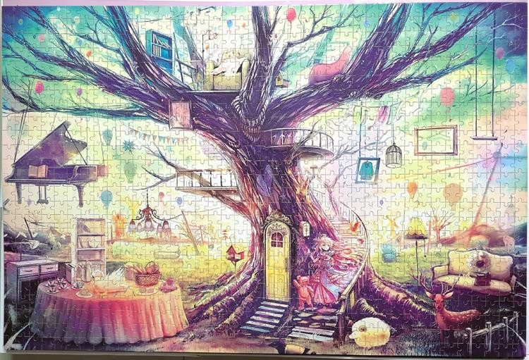 Adult jigsaw 1000 world famous paintings Van Gogh starry high school students adult manual decompression puzzle toys gifts