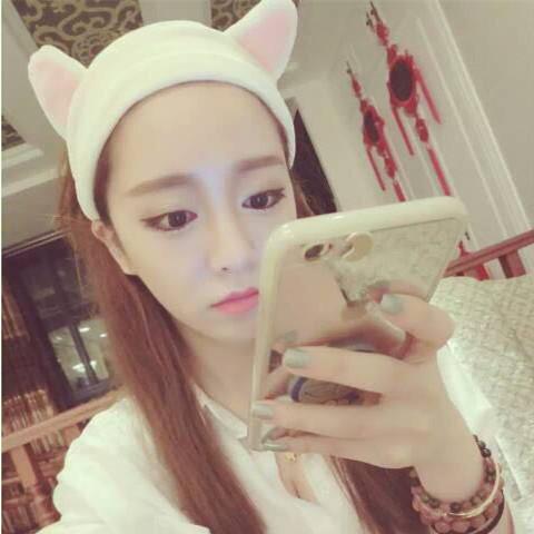 Practical rabbit ears headband Korea face mask headband cute cartoon Korean cosmetic towel.