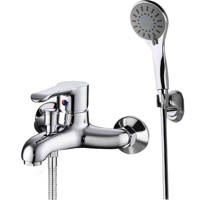 蛇口の浴槽冷熱全銅シャワー蛇口スーツトリプル簡易混じる水バルブ部品じょうろ浴室ノズル