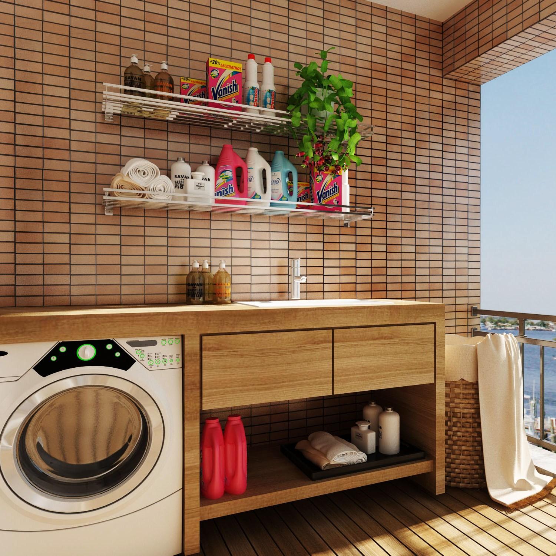 Anpassbare Edelstahl - an der Wand hängen waschmaschine Rack - toilette - regal - Rack balkon protzig