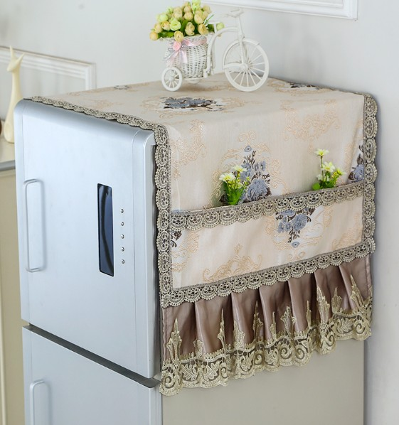 Refrigerator dust cover, cloth cord, refrigerator cover, cloth towel, dust cover, rectangle, multi use, refrigerator, cloth cover, curtain