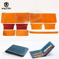 19WT短い財布材料の包み財布皮料手作り皮具革植木膏皮WT815なめし革