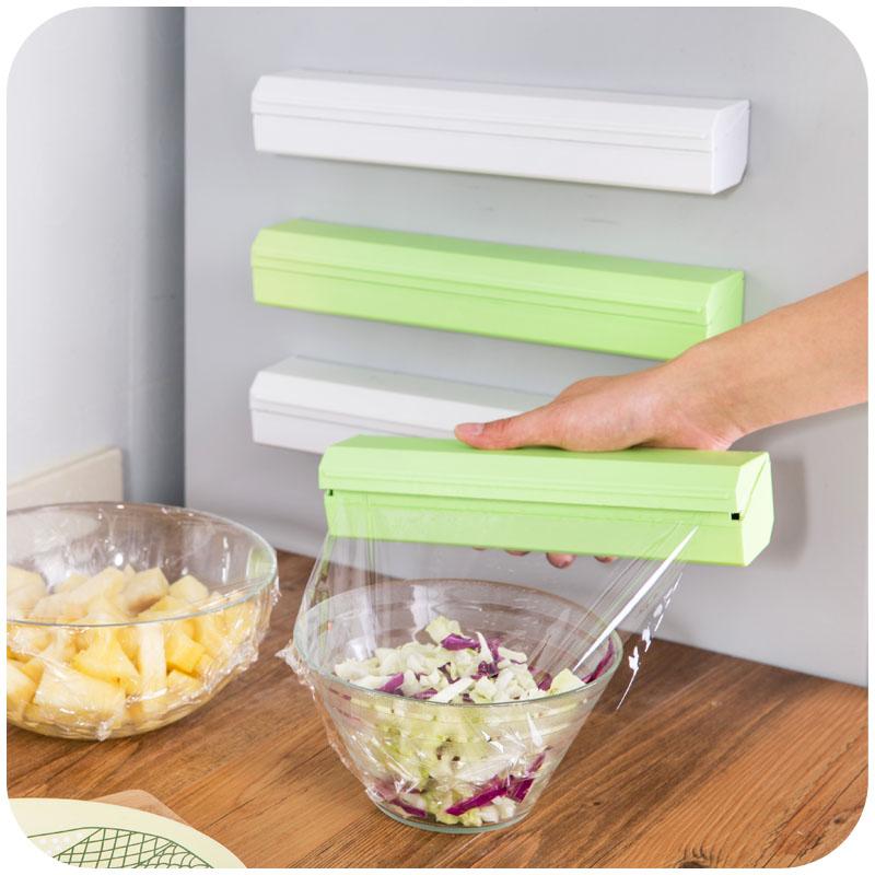 เครื่องตัดฟิล์มห่ออาหารครัวบ้านสร้างสรรค์สิ่งประดิษฐ์อุปกรณ์แกดเจ็ตสดแถวแบบกล่องกล่องกระดาษตัด