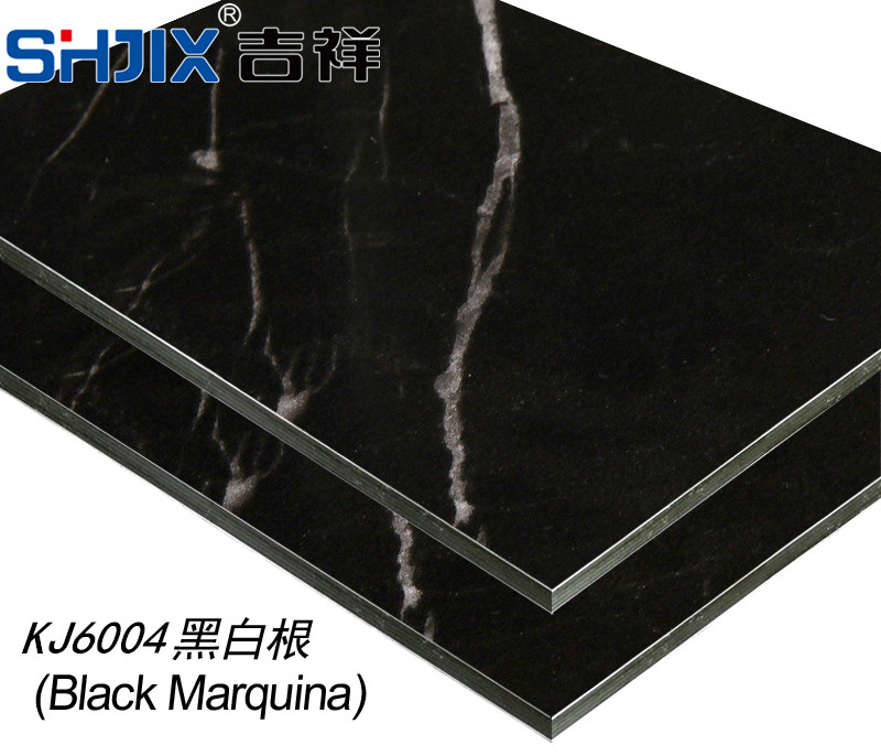 Authentic Shanghai auspicious aluminum plastic board, 3mm15 silk, black and white root, aluminum and plastic board, internal and external wall paste advertising curtain wall dedicated