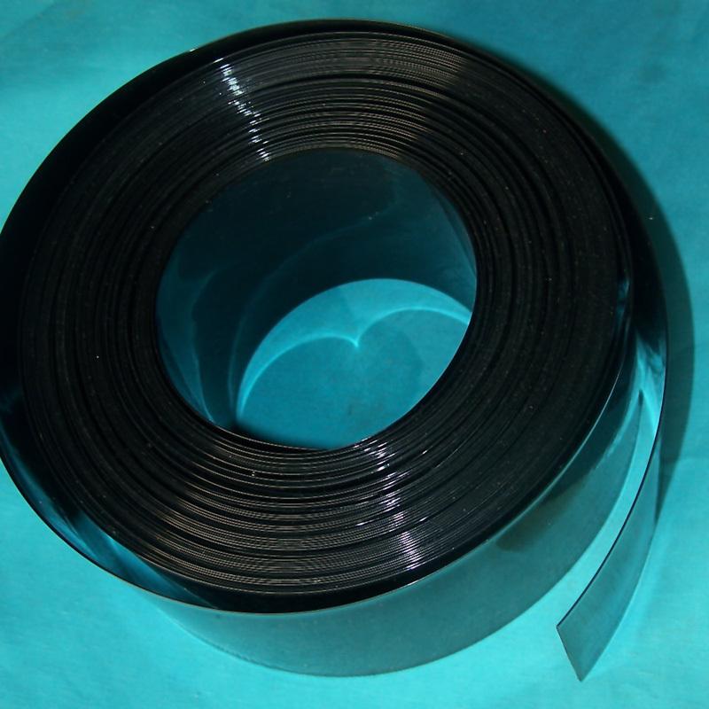 De ancho 373mm Phi 238mm negro el tubo de PVC, accesorios de cuero paquete modelo de batería de película de calor