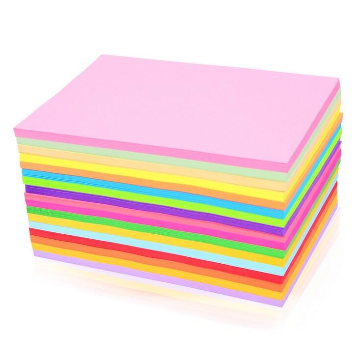 Children's manual material 80g kindergarten 100 color origami origami material color A4 color copy paper.