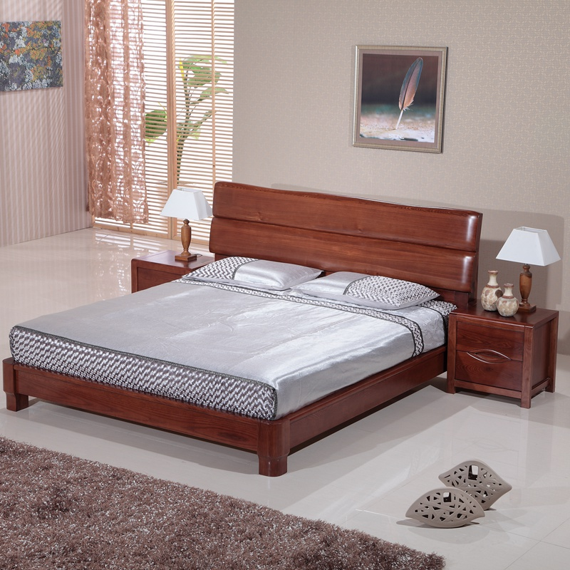 The old elm wood bed 1.8 meters double bed holomorphic Chinese bed bed bedroom furniture clearance special offer