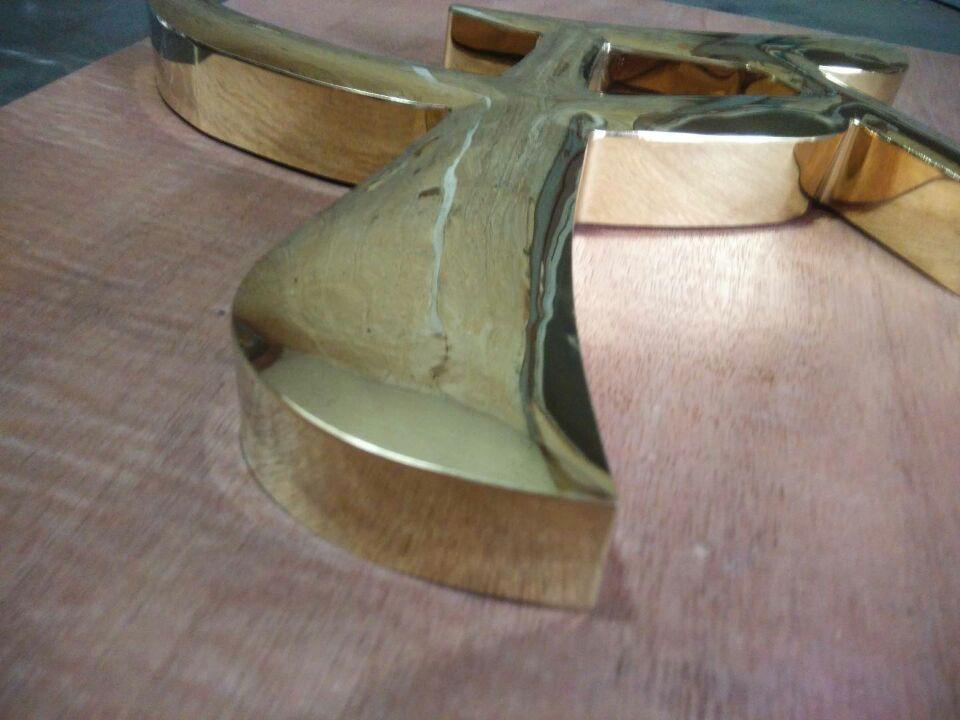 球面ステンレスチタン金古銅めっきアンティークセイコー字ブラックチタンバラ金シャンパンゴールド塗装エンブレム