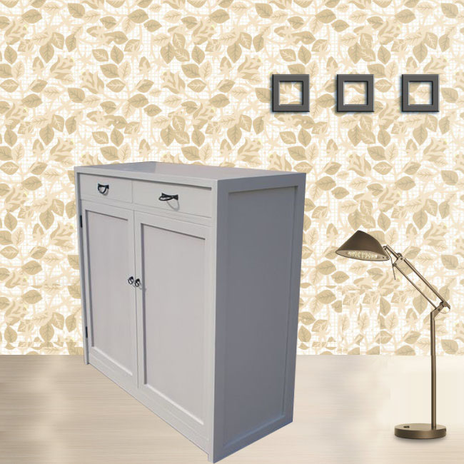 Real wood paint in the shoe cabinet and environmental protection cabinet