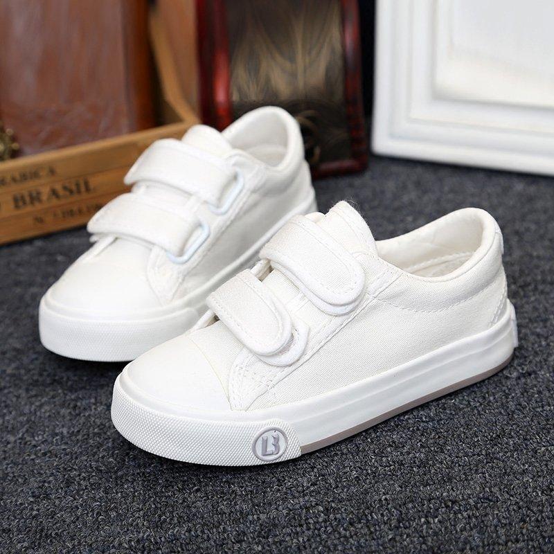 天天特价儿童帆布鞋男童女童鞋子白色板鞋低帮纯色休闲单鞋白球鞋