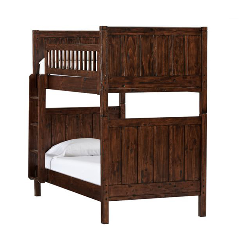 Children's high and low beds, solid wood bedroom, mother and child bed, custom double bed, high and low bed, American antique, old mother child bed customization