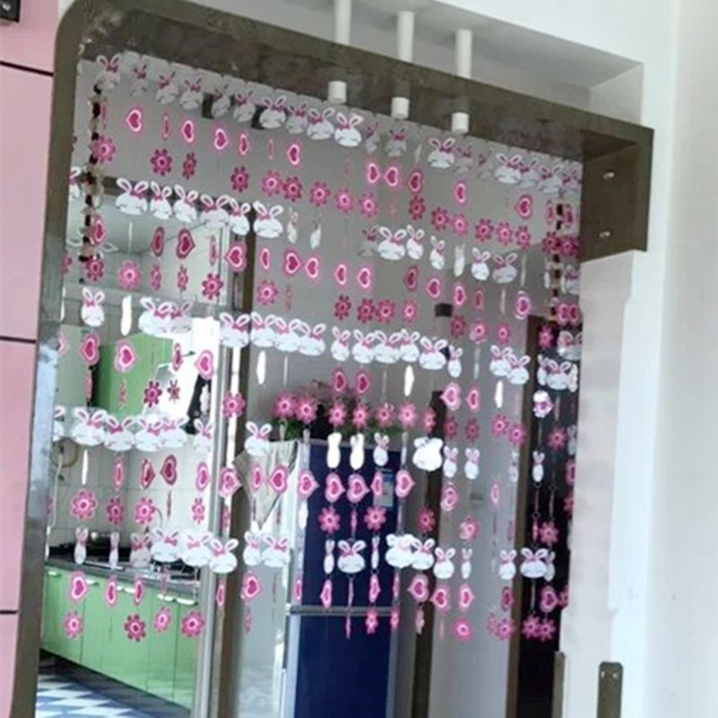 Modern home decoration, PVC cartoon plastic door curtain, lovely decorative hanging curtain, partition curtain, finished delivery rod