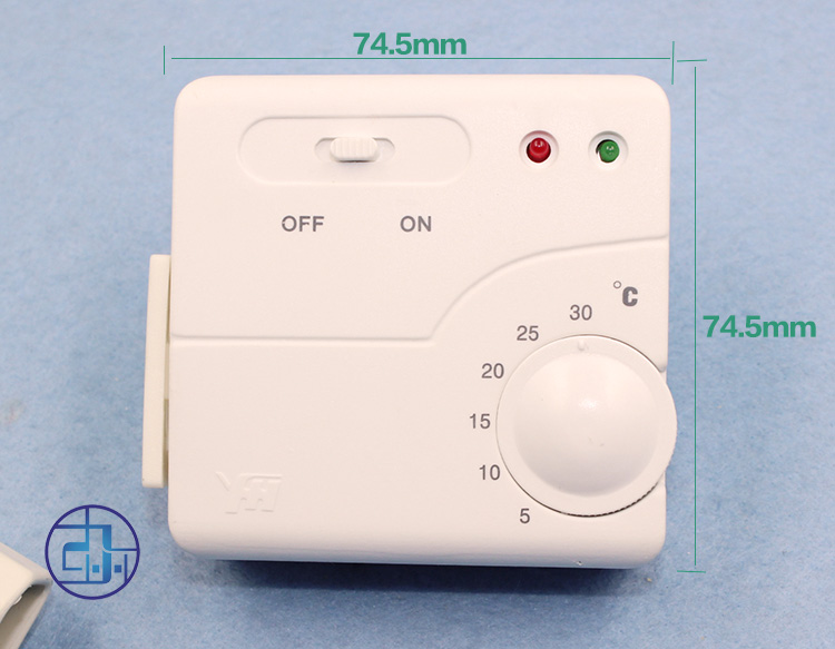 Temperature controller, floor heating type electric drawing, 0 DEG inserting heating, A3 probe 1 electric heater 0 built-in switch
