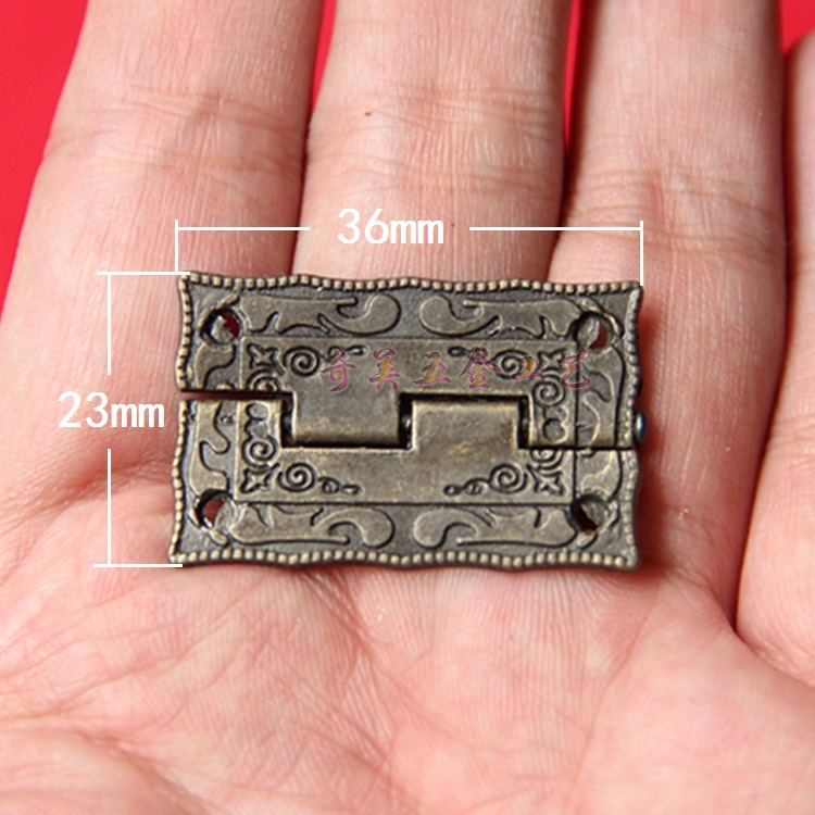 Built in 180 plane hinge small antique hinge hardware accessories gift box special hinge number