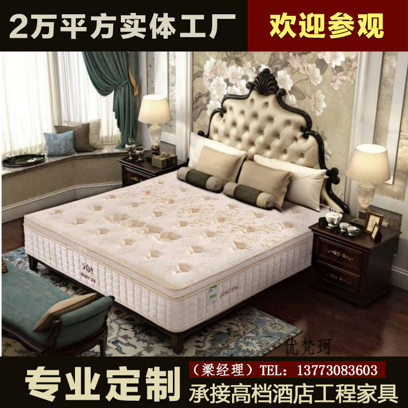 The new classical European style solid wood bed double bed and 1.8 bed bed bed American Princess Jane French bed