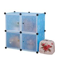 Plastic bag mail children with door wardrobe bookcase free combination mobile 4 lattice furniture special offer resin bookcase bookshelf