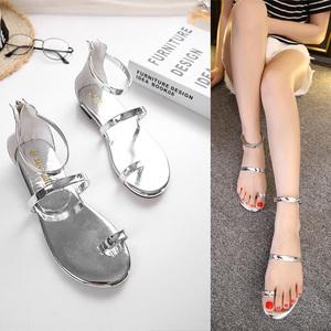 新款舒适白搭凉鞋 平底鞋 813-3两色 35-40码