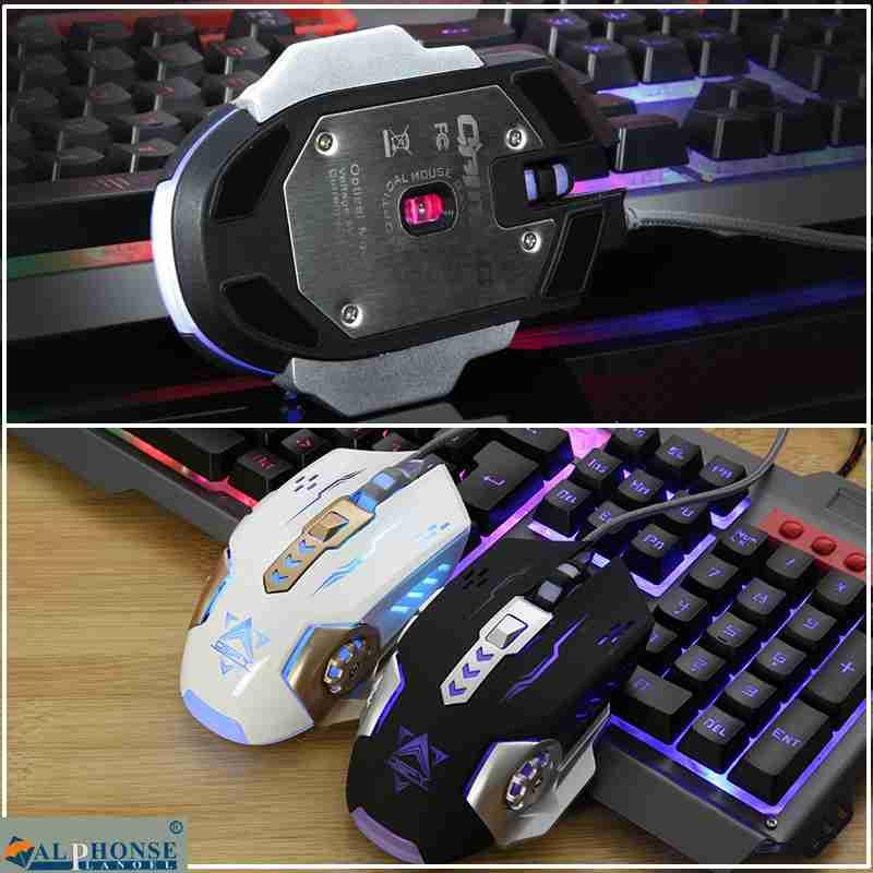 Mecánica de la mano el teclado y el ratón set de cable e Internet en el juego de llaves de luz LOL.