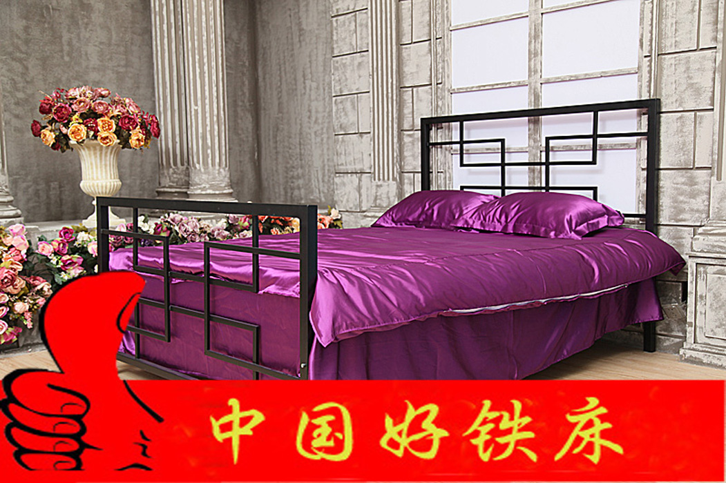 Chinese modern minimalist fashion Tieyi bed double bed bed bed single bed formwork ty030 children