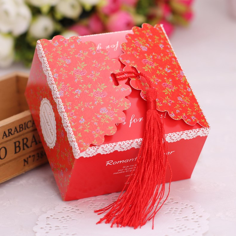 The full moon of Korean wedding candy boxes creative wedding candies packing gift box size candy box wholesale