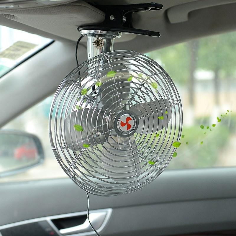 차량 작은 차에 쓰는 선풍기 24v 큰 화물차 12v 강력 냉동 고개를 저으며 코치 자동차 자동차 선풍기