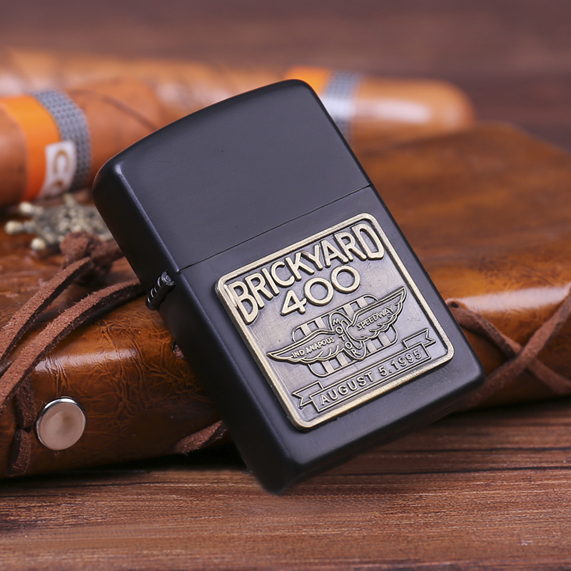 Kerosene lighter anti wind old-fashioned creative ultra thin personalized engraving advertisement DIY male gift