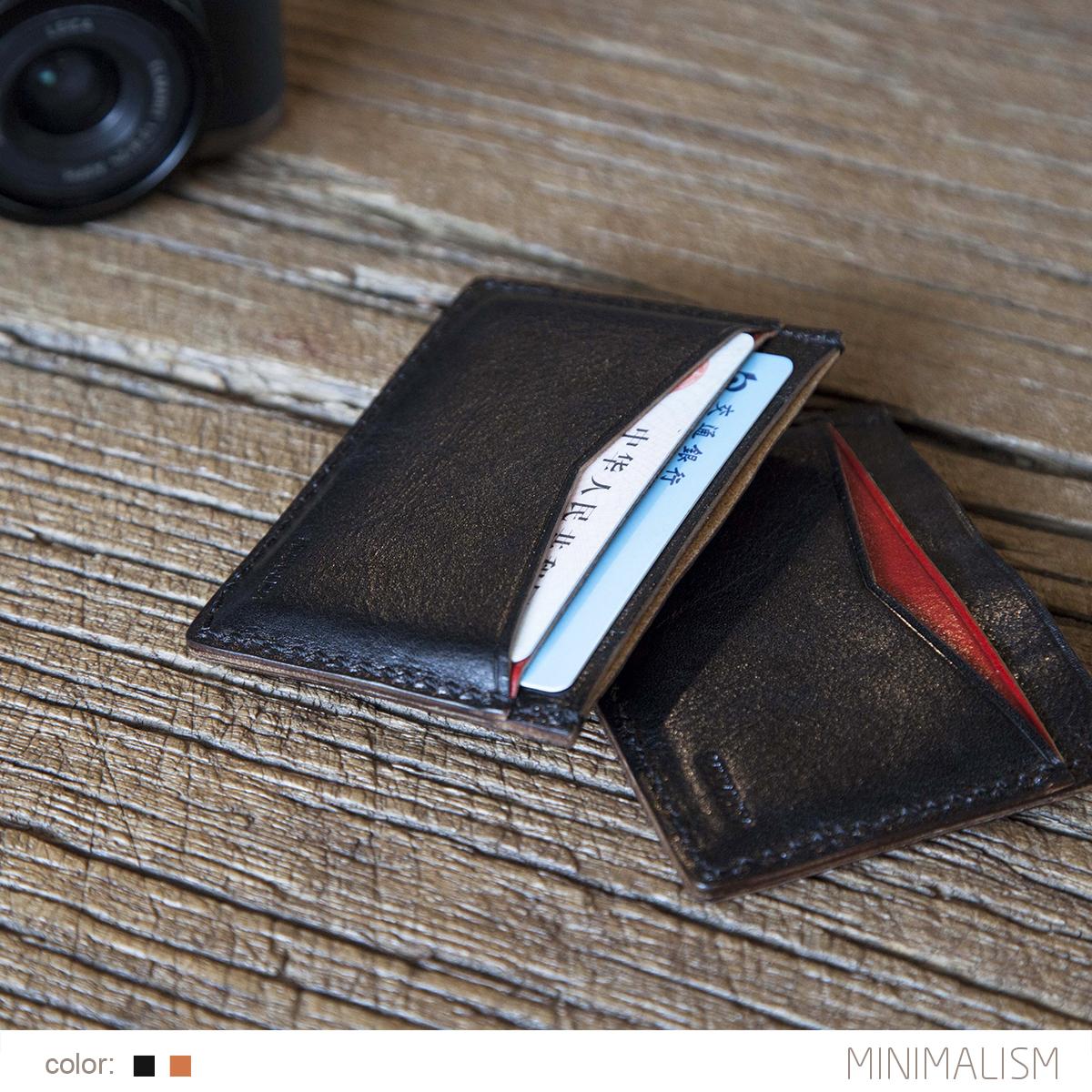 MINIMALISM минимализм итальянской кожи id карты пакет цветовым пункта ML9C077 кожной держателя карточки
