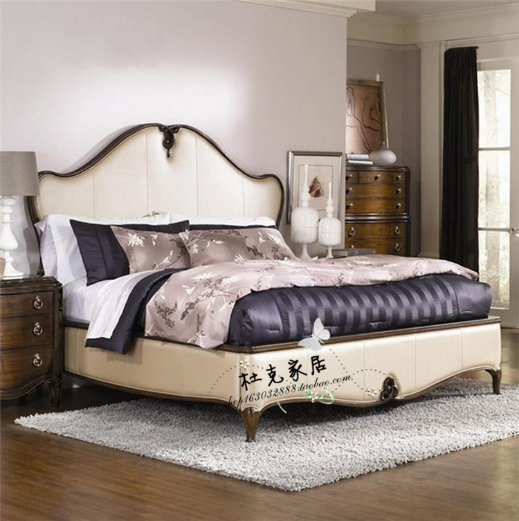 New American country all solid wood bed, double oak oak Princess Wedding bed, 1.8 meter bed direct sales