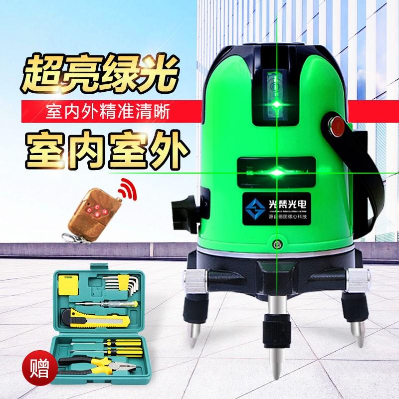 เครื่องมือวัดระดับความสมดุลของระดับไฟแสงเขียว 2 สายสายสาย 3 5 ระดับเลเซอร์อุปกรณ์การเล่นเส้นโดยอัตโนมัติ