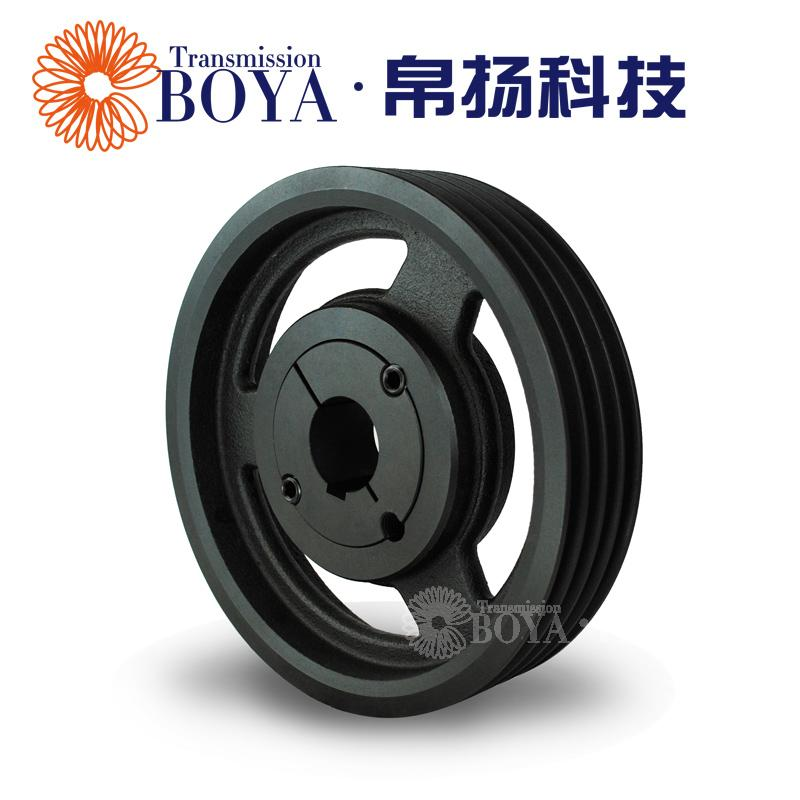 Bo Yang European standard V type belt pulley 4 groove taper sleeve SPZ280-04 2517 cast iron air compressor shaft disc motor