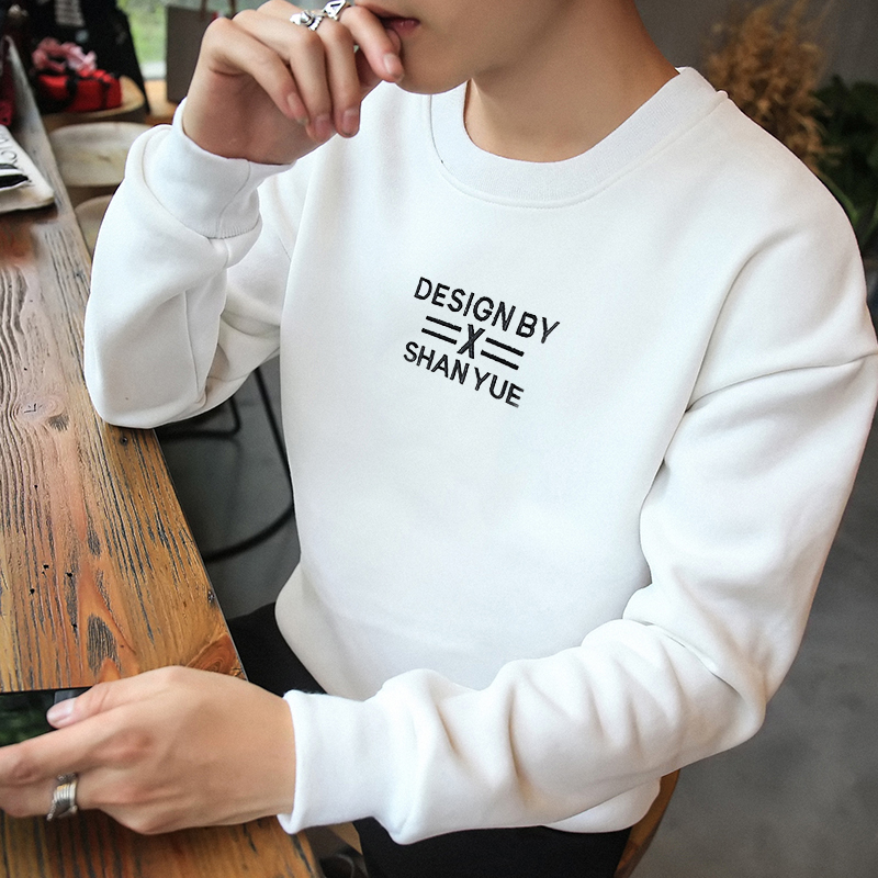 Hanska winter T-shirt long sleeved sport sweater cashmere Mens Suit with male head tide students