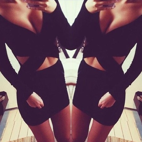 Euro sexy women dress bandage party dresses crop top