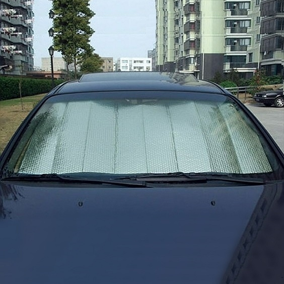 Summer car sun block with double aluminum foil insulation car vehicle sun visor front baffle general sun sun