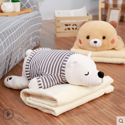 暖かい手抱き枕掛け布団両用自動車のクッションクッションオフィス昼寝ざぶとん腰枕枕珊瑚の絨毛布され