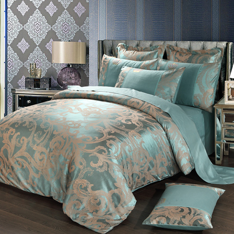 Silk silk silk 95% double-sided high-grade bedding Tencel four piece quilt 2x2.3 2.2x2.4 M