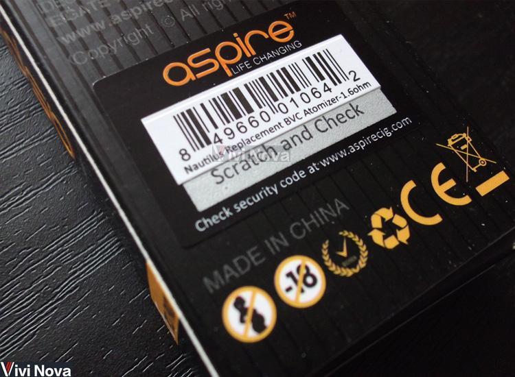 1 / 2 jedna torbe aspireNautilus bvc nautilus drugiej generacji w europie podstawowych rdzeni 0,7 deatomizer, ceramiczne