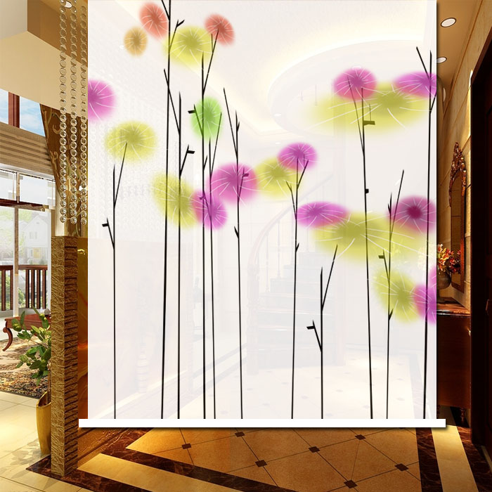 Sun flower curtain, abstract flower curtain, simple image partition, bookcase door, dustproof beautiful door curtain