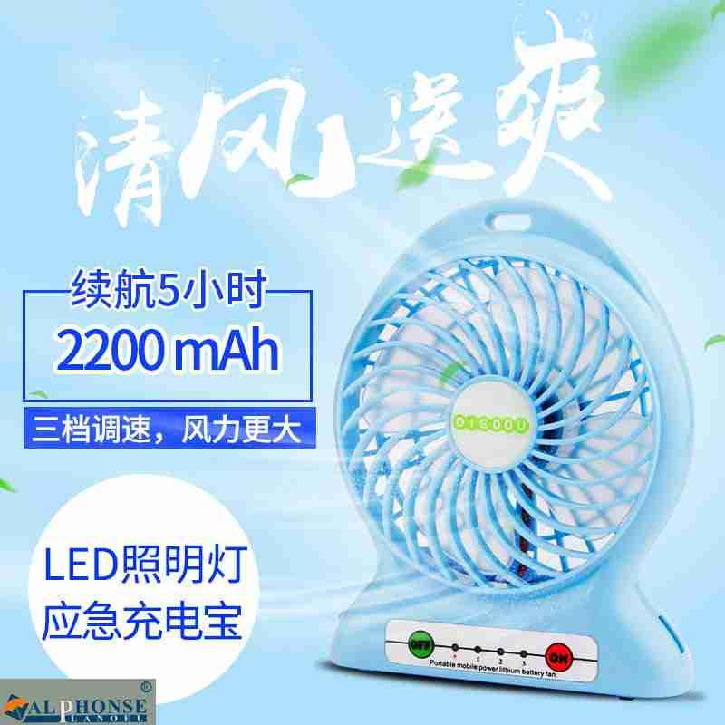 Mini - draagbare airconditioning USB - telefoon fan oplaadbare creatieve slaapzaal kleine dragen