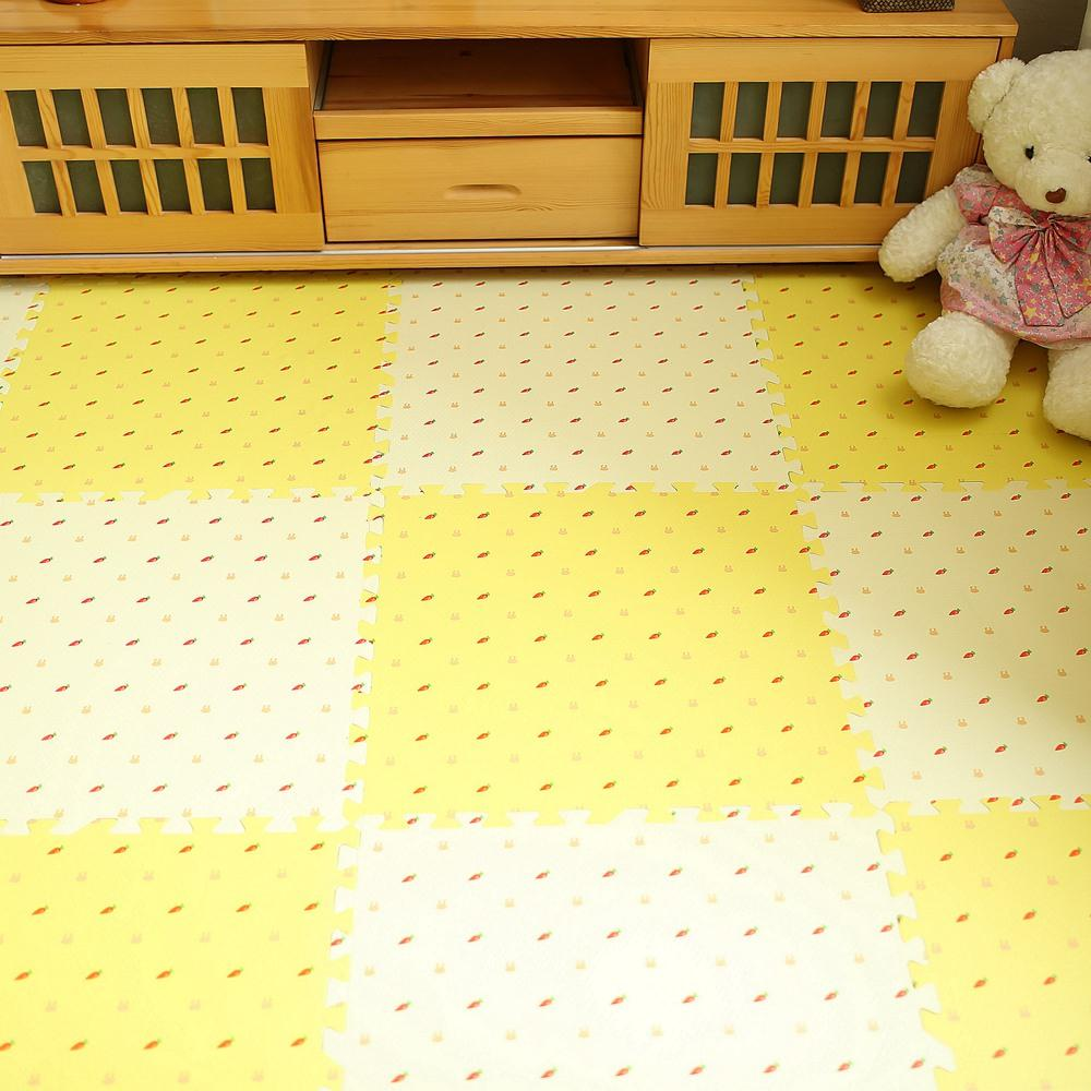 Sub tatami cushion plush carpet foam board children bedroom floor crawling pad pad mosaic puzzle