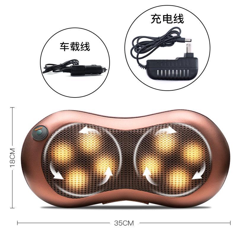 頸椎首多機能頚最もマッサージャー腰首成人揉捏温湿布を枕にマッサージ車車