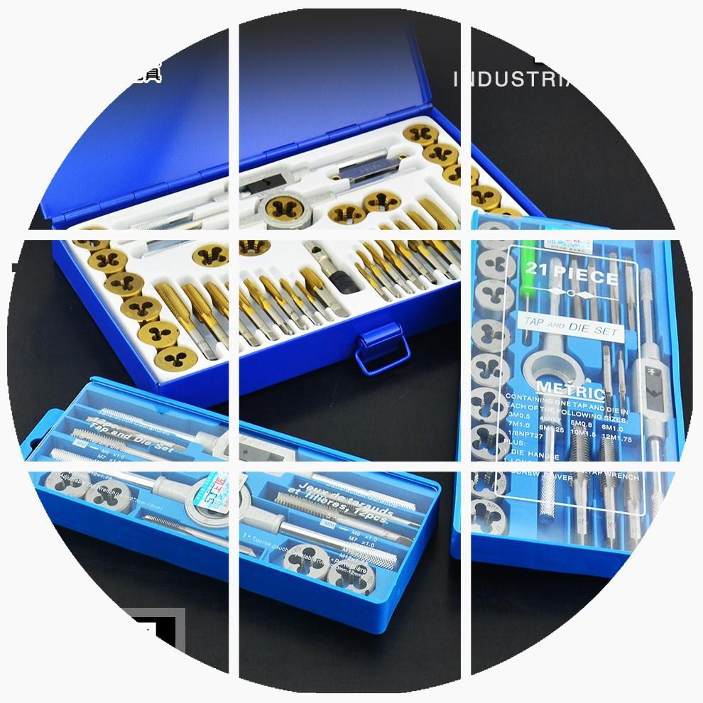 Metric tool tap die set hand machine tap diestock suit sets of silk thread