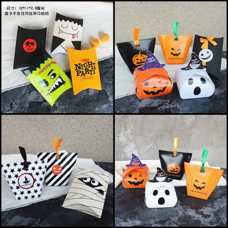 Хэллоуин, Хэллоуин тыква печенье коробку печенья питание закуски мешок небольшой подарок конфеты мешок самозатягивающиеся выпечки