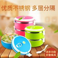 304 stainless steel lunch box thickened, deepened, three compartment dinner box, compartment, student compartment, square lunch box, cover plate, dinner plate