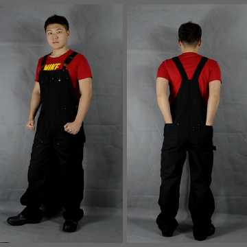 European version of black overalls, suspenders, pants, conjoined clothing, autumn and winter new workers, auto repair overalls