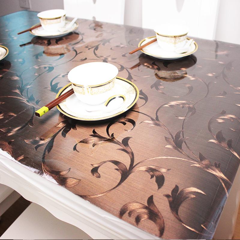 透明水晶板フィルム板デスクトップクッション軟質ガラステーブルクロス食卓板メサクッション板カスタム